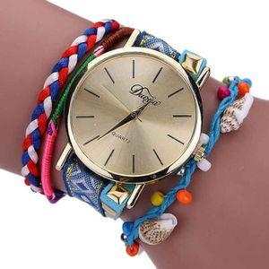 MONTRE Weave Enroulable bracelet cristal de la chaîne de