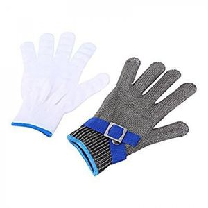 GANTS DE PROTECTION Version Blue sideband - Cotte De Mailles Boucher A