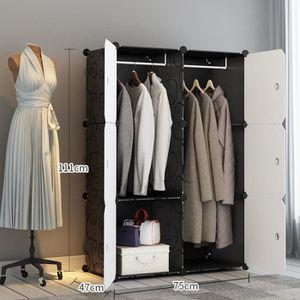 ARMOIRE DE CHAMBRE Armoire de Vêtement de Rangement Plastique Garde-r