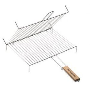 USTENSILE Grille barbecue double + pied COOK'IN GARDEN