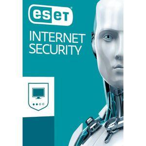 BUREAUTIQUE À TÉLÉCHARGER Eset Internet Security 10/2017 3 Postes / 1 An / V