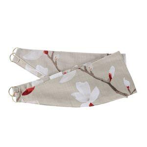 RIDEAU Lot de 2 Embrasses à rideaux à motif floral blanc