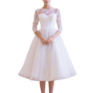 24bc87f6db8e1 ROBE DE MARIÉE Robe de Mariée Simple Princesse avec Longueur aux