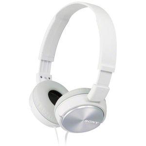 CASQUE - ÉCOUTEURS Sony MDR-ZX310W Casque Pliable - Blanc