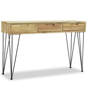 TABLE BASSE Table console 120 x 35 x 76 cm Teck massif