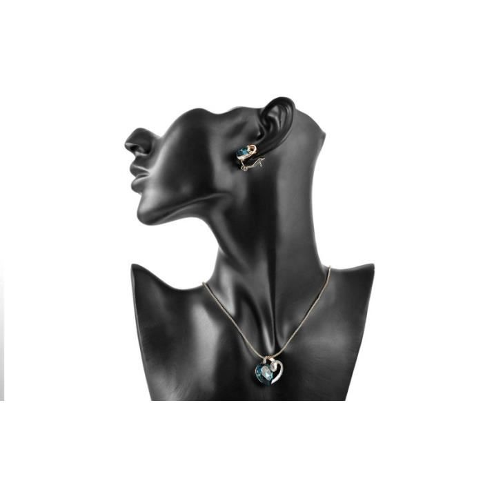 Mode Plaqué Or Autrichienne Collier Pendentif Bijoux De Anniversaire - Cadeau De Noël