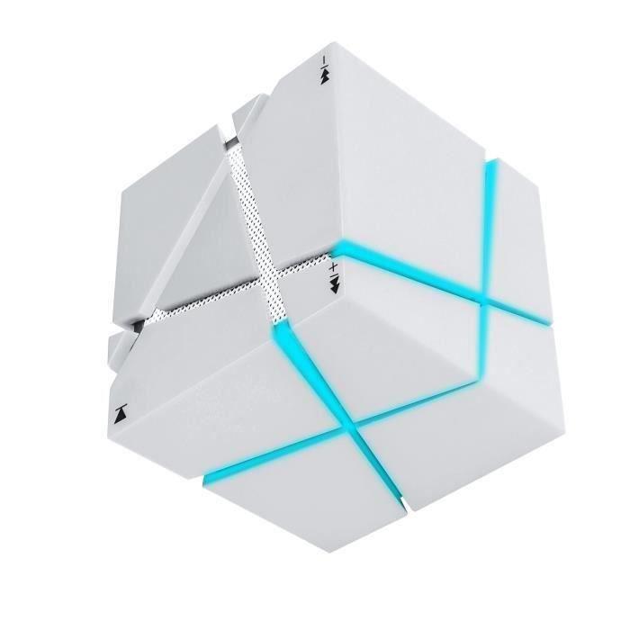 Colorful Led Mini Portable Enceinte Bluetooth Musique Sans Fil Avec Haut-parleur Stéréo Microphone Main-libre (blanc) A713
