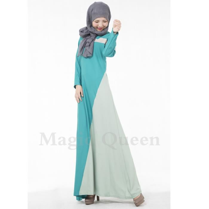robe moyen-orient caftan couleur assortie à la dernière mode