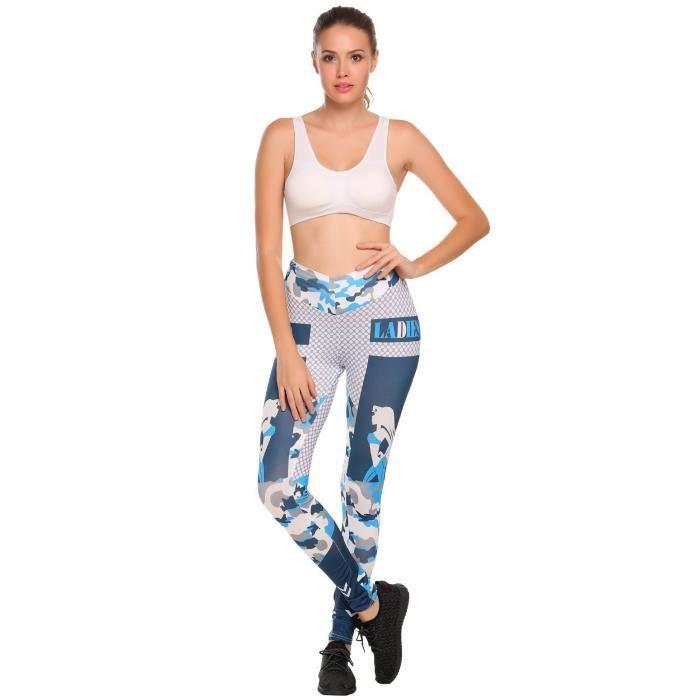 Femme Pantalon Sportifs Yoga Fitness Gym Élastique - Prix pas cher ... 692a07e0249