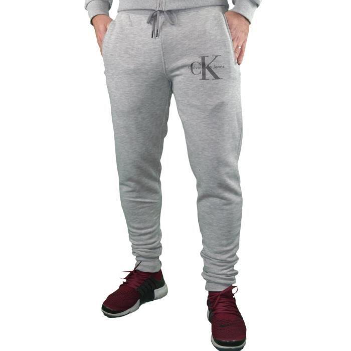 Calvin Klein - Bas De Jogging - Homme - Ck Pants Slim - Gris Clair ... 3aaf2fcc97a
