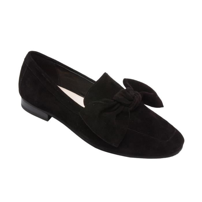 Eden - Bow Noeud Adorned Mocassins - Suede cuir confortable Slip-on chaussures plates (nouvelle automne) EDB72 Taille-37 1-2 iizGKdcRl