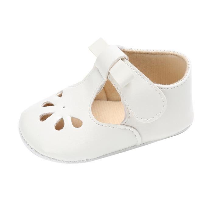 BOTTE Bébé Nourrissons Enfants Fille garçons Doux Sole Crib Toddler Doux Nouveau-Né Sandales Chaussures@BlancHM