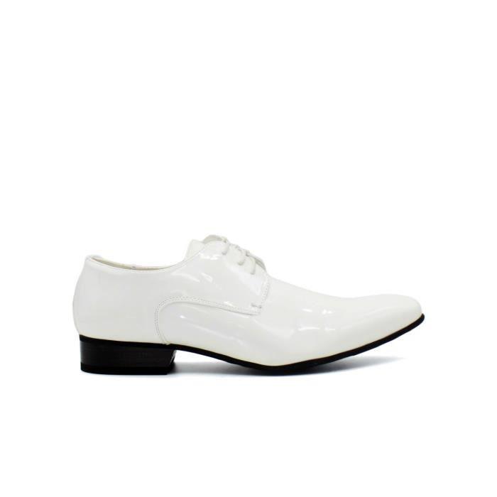 DERBY Chaussure derby vernis Homme Blanc