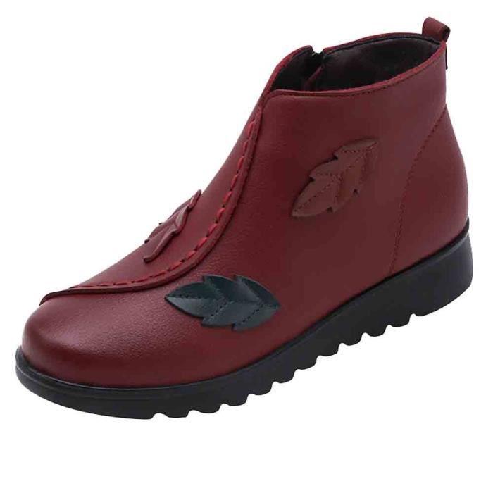Chaussures Bottes Hiver Boot Chaud Femmes aged Femme Neige Moyen yunsoel2218 Bottine Casual rf0w8fqBx