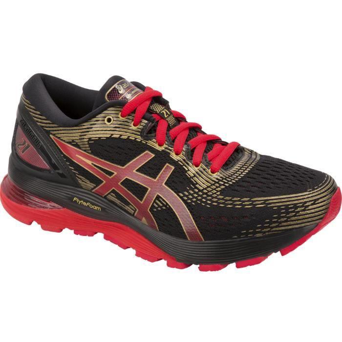 pas mal b6eb0 5bdd1 Asics Gel-Nimbus 21 1012A235-001 chaussures de running pour femme Noir