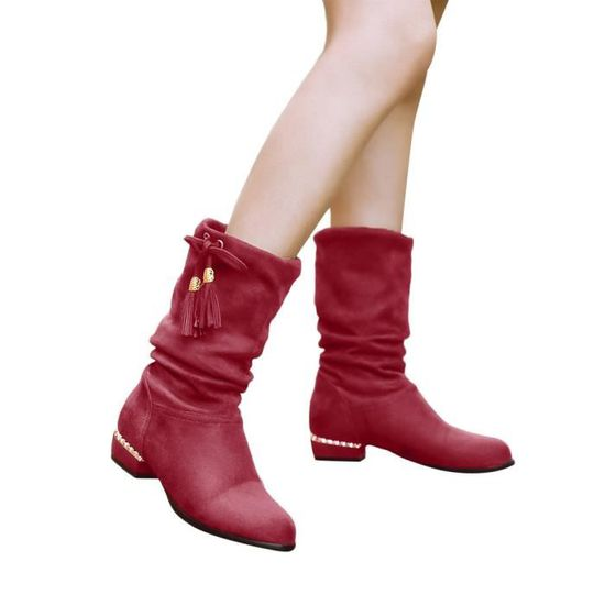 Bottes Femmes Mesdames Gardez Chaud Oppapps4202 Martin Papillon Genou Long Plates Chaussures Décoratives l3J1TcFK