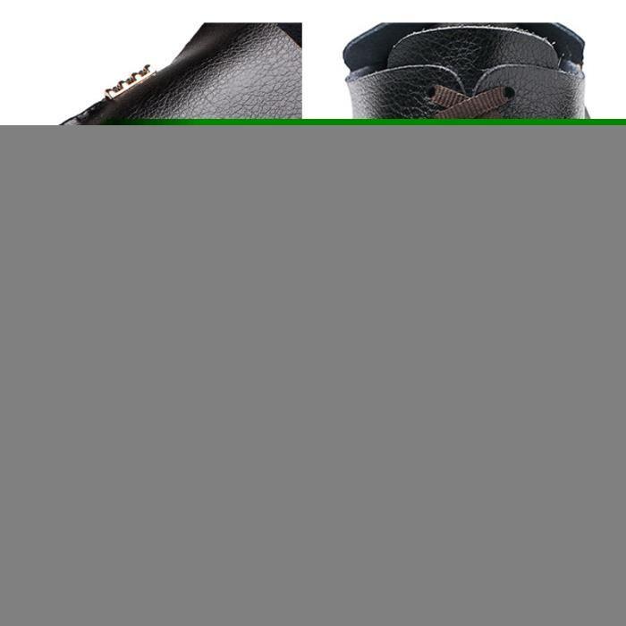 Mocassin Hommes Ete Comfortable Mode Detente Chaussures WYS-XZ75Noir43 ivhZ2