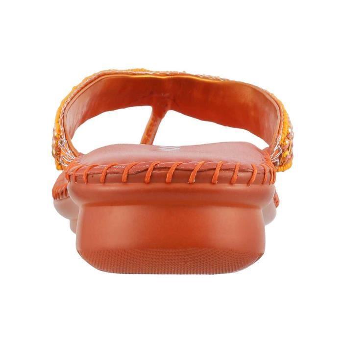 synthétique orange pour femmes FIY2X Taille-38