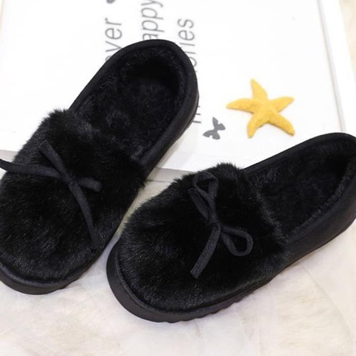 Chaussures Femme Hiver Peluche fond épaisé Chaussure BJXG-XZ065Noir37