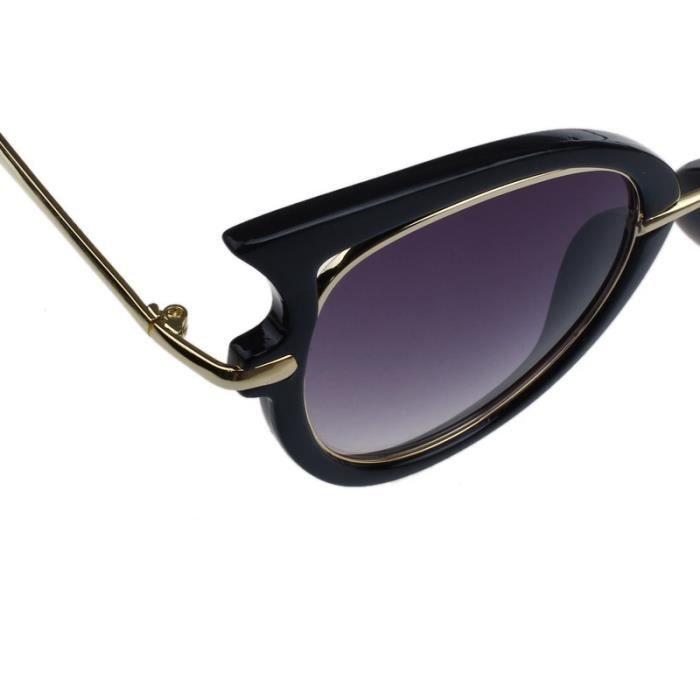 ... 2017 Retro lunettes de soleil femme cadre en métal Golden leg lunettes  de vue chat noir 3acd883259f7