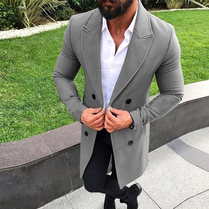 Et Nouveau Intelligent Pardessus Outwear down3962 Manteaux Hiver Long Bouton Trench Homme Automne rq7tn8Ar