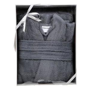 FINLANDEK Peignoir col Kimono - Blanc - M