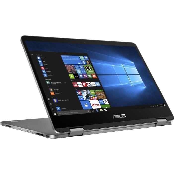 Ordinateur Portable Convertible - ASUS VivoBook Flip TP401MA-BZ088T - 14 pouces - Pentium 5000 - RAM 4Go - Stockage 128Go - Win 10