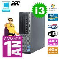 UNITÉ CENTRALE + ÉCRAN PC Dell 790 DT Intel I3-2120 4Go Disque 480Go SSD