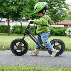 DRAISIENNE Draisienne Vélo Enfant Vélo Sans Pédales Noir Pour