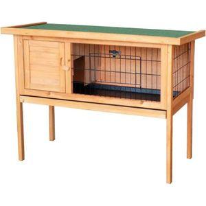 CLAPIER Cage en bois pour rongeurs, hamsters ou lapins - 5
