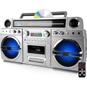 ENCEINTE ET RETOUR Ghetto-Blaster portable Bluetooth avec lecteur CD