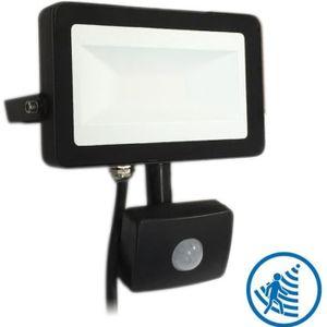 PROJECTEUR EXTÉRIEUR Projecteur LED 30W Noir détecteur de mouvement (Bl