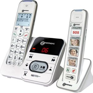telephone sans fil grosse touche achat vente pas cher. Black Bedroom Furniture Sets. Home Design Ideas