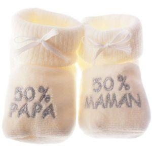 CHAUSSON - PANTOUFLE Chausson bébé 50% papa 50% maman  Beige