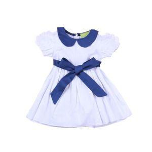 18dd7963edf3d ROBE Enfant Fille Robe Princesse Tenue Été Col Claudine