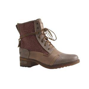 Bottines Femmes Automne Hiver talon épais en cuir bottes BCHT-XZ019Noir38 3enFTcCY35