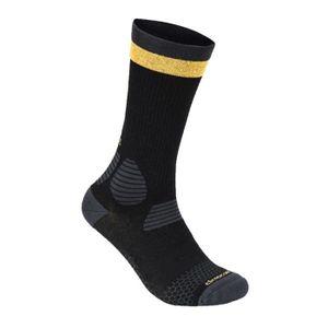 CHAUSSETTES FOOTBALL Chaussettes Respirante X SOCKS Noir et jaune AI369