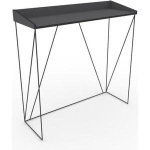 meuble console en metal noir achat vente pas cher. Black Bedroom Furniture Sets. Home Design Ideas