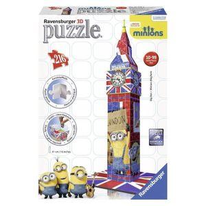 PUZZLE LES MINIONS Puzzle 3D Big Ben 216 pcs