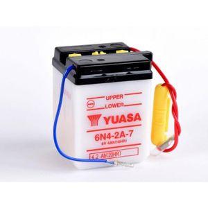 BATTERIE VÉHICULE Batterie YUASA 6N4-2A-7 conventionnelle