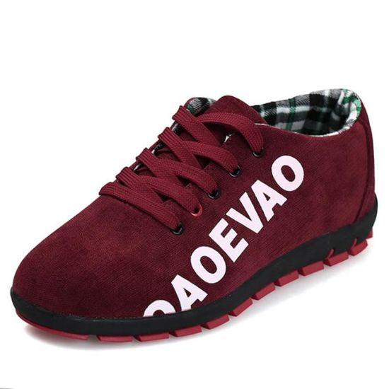 Chaussures De Sport Pour Hommes Textile De Course Antidérapant Populaire WYS-XZ123Rouge46 Rouge Rouge - Achat / Vente basket