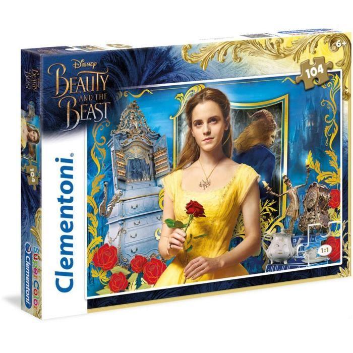 La Belle et la Bête Puzzle 104 Pièces de Clementoni. Dès 7 ans. Mixte - livré à l'unitéPUZZLE