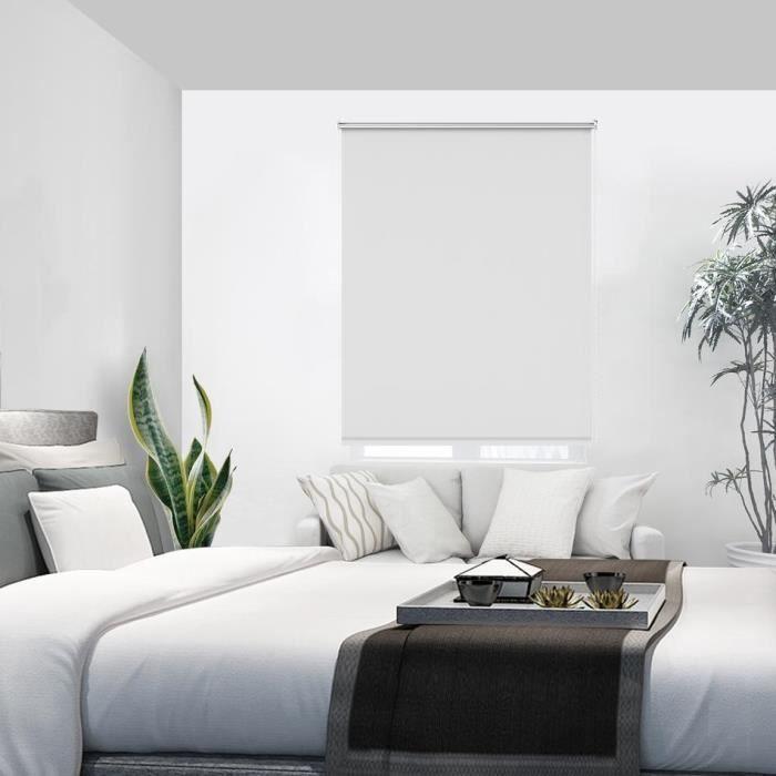 Store enrouleur Blanc 90 x 170 cm store occultant thermique isolant ...