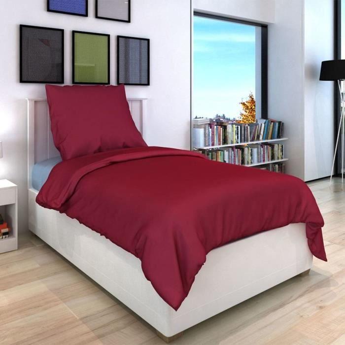 couette couleur bordeau achat vente pas cher. Black Bedroom Furniture Sets. Home Design Ideas
