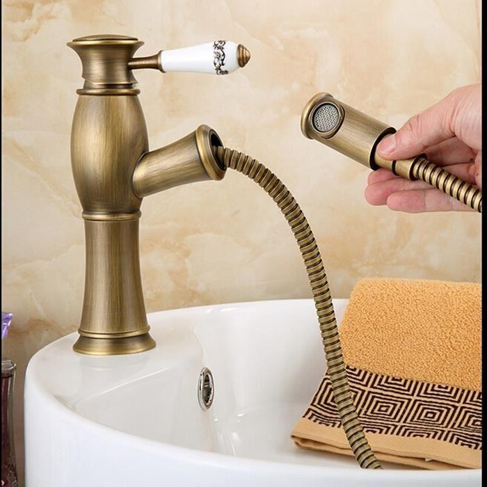 robinet mitigeur d vier r tro cuisine robinet cuisine salle de bain en laiton achat vente. Black Bedroom Furniture Sets. Home Design Ideas