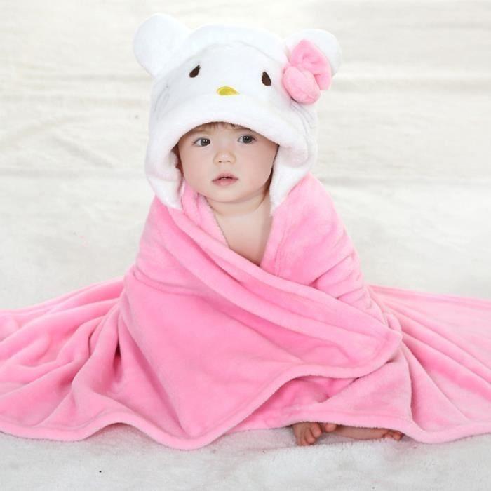 Serviette de bain À capuche drap de bain bébé Mignon Animal Peignoir  Serviette de Bain Pour Bébé 43bc221abcd