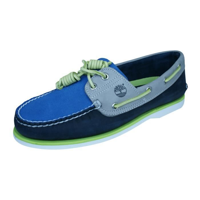 Timberland CLS2I Classic Boat Chaussures en daim pour homme Bleu 7.5 lBnY41tmS