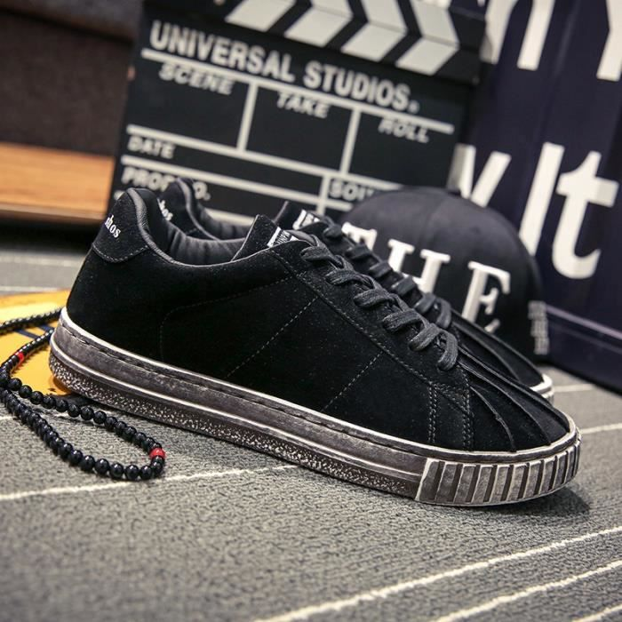 Sneakers Hommes Coquilles Chaussures Chaussures Toile De Casual Sneakers rrpq1Sw
