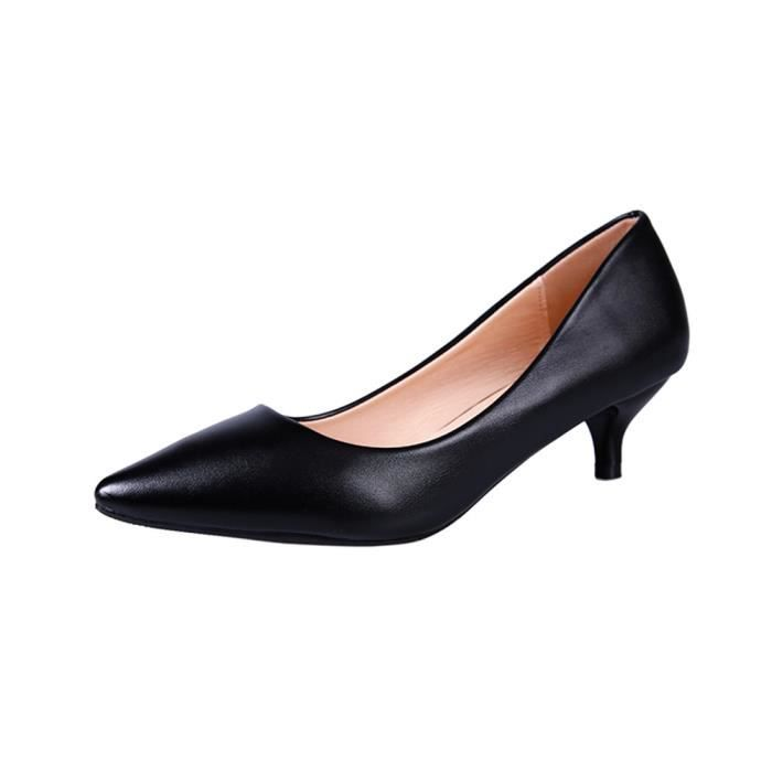 2558da69603 Femme Escarpin De Marque De Luxe Elégant Durable Chaussure Haut qualité