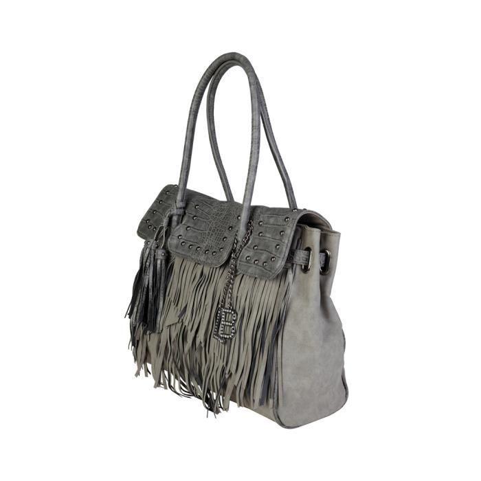 Cyllene Fantaisie - Sac porté épaule pour femme (LB17W117-3_FUMO) - Gris